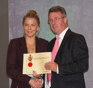 Joanna Collecting Award from the IMI, Glasgow 2012
