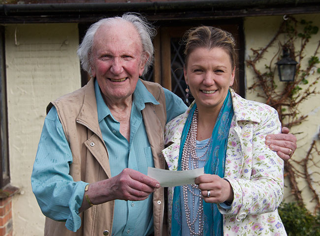 Joanna Culley and David Shepherd, conservationist