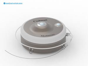 Codman Medstream medical pump unit as a 3d render