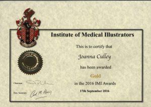 Gold award from IMI 2016