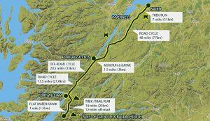 Map of scotland coast route Nairn to Isles of Glencoe & Ballachulish