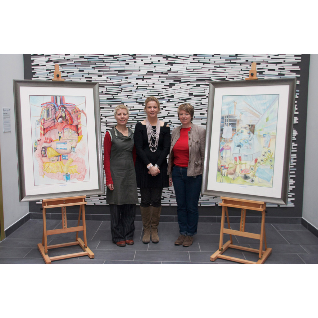 Unveiling of paintings at Southmead Hospital
