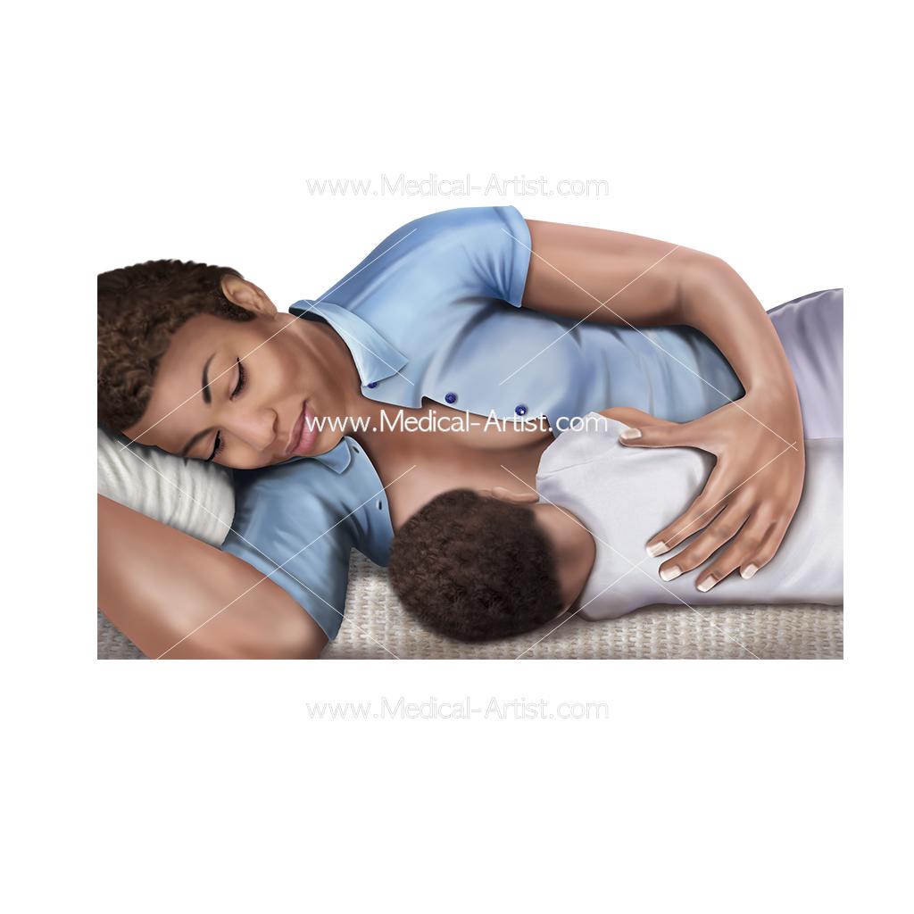 Breastfeeding Medical Illustrations Artwork Designed For Health